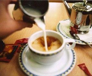 coffee, vintage, and milk image