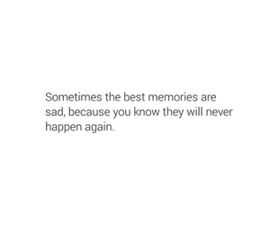 memories, quote, and sad image