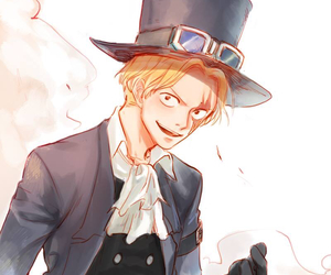 one piece, art, and sabo image