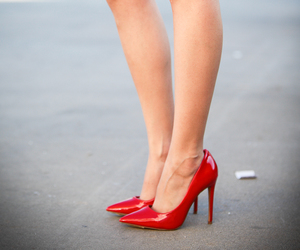 heels, red heels, and red pumps image