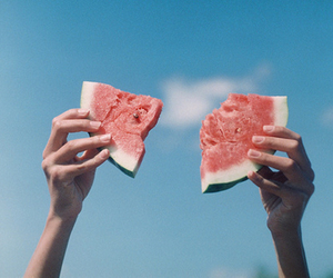 photography, watermelon, and food image