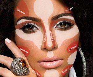 makeup, kim kardashian, and make up image