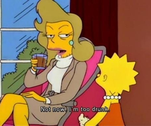 drunk, simpsons, and the simpsons image