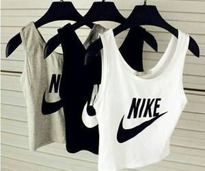 clothes, crop tops, and nike image