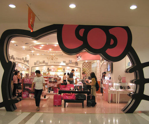 hello kitty, pink, and shop image