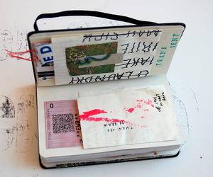 art, ticket, and diary image