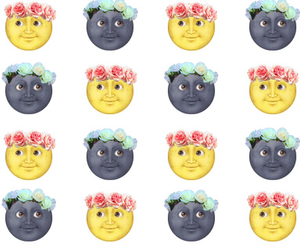 moon, wallpaper, and emoji image