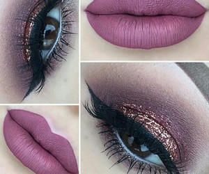 glitter, lips, and makeup image
