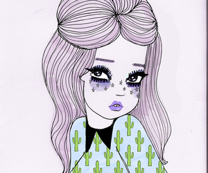 art, valfre, and cactus image