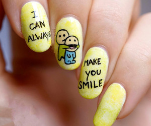 nail art and yellow image