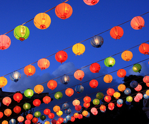 lantern, colorful, and light image