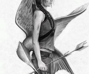 draw, the hunger games, and mockingjay image