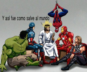 jesus, god, and Marvel image