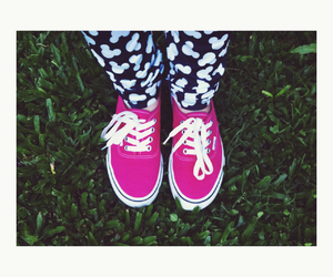 mickey, pink, and vans image