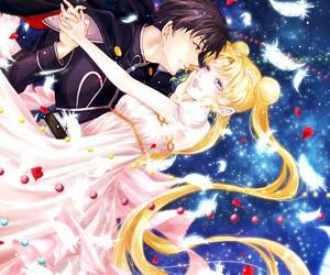 sailor moon, tsukino usagi, and prince endymion image