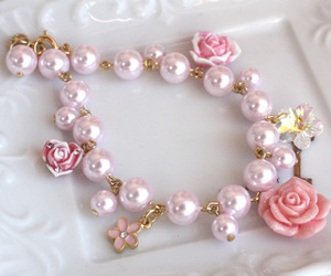 pearls, roses, and cute image