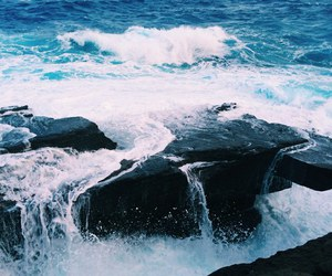 blue, sea, and nature image