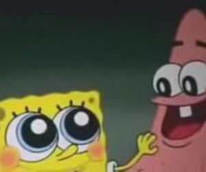 patrick, pink, and sponge image