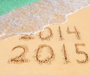 2015, new year, and beach image