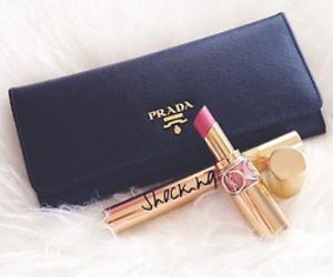 Prada, fashion, and lipstick image