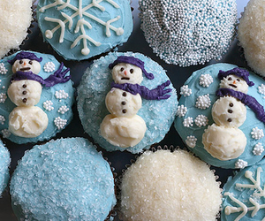 desserts, icing, and snowman image