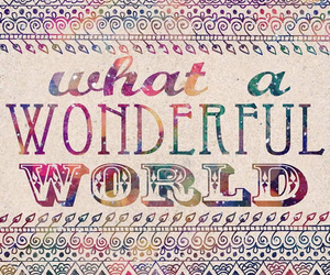 world, wonderful, and quotes image