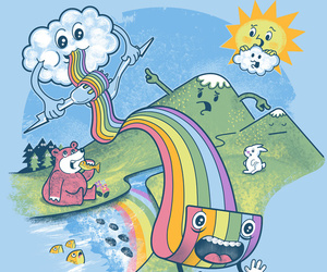 color, funny, and rainbow image