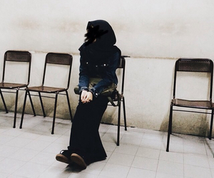black, hijab, and hipster image