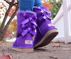 uggs, purple, and boots image