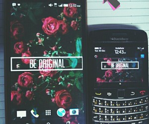 blackberry, floral, and htc image