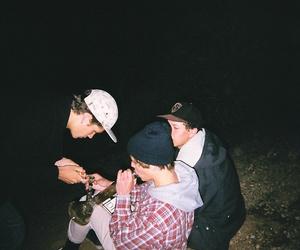 grunge, boy, and smoke image