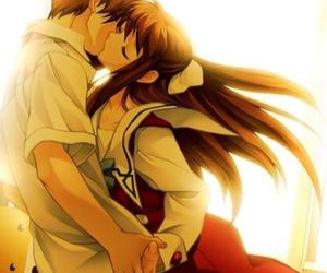 anime and kiss image