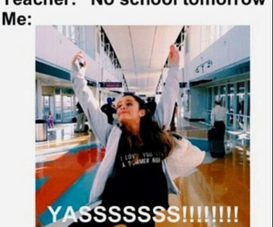 funny, school, and ariana image