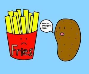potato, funny, and fries image