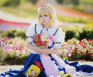 alice margatroid, anime, and blonde hair girl image