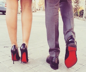 couple, shoes, and red image