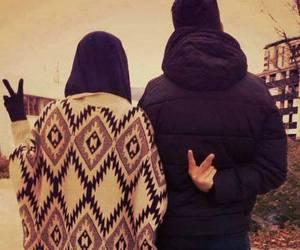 love, couple, and islam image