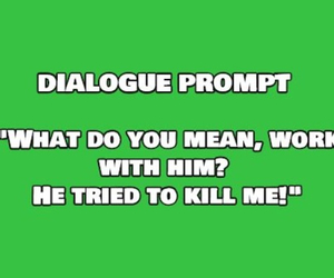 dialogue, write, and writing image