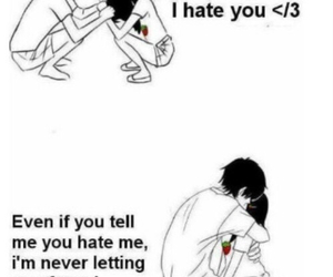 love, couple, and hate image