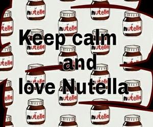nutella, love, and eat image