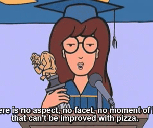 pizza, 90s, and Daria image