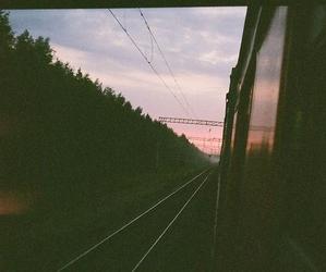 grunge, train, and vintage image