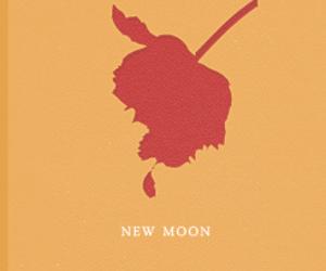 new moon, the twilight saga, and minimalist poster image