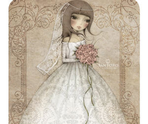 bride, card, and illustration image