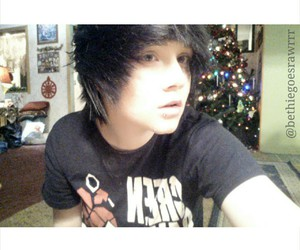 adorable, black hair, and emo image