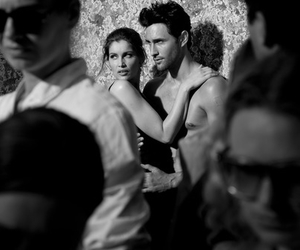 black and white, Laetitia Casta, and noah mills image
