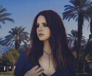 lana del rey, palm trees, and shades of cool image