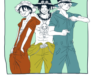 one piece, ASL, and monkey d. luffy image