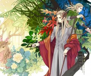 Legolas, thranduil, and deer image