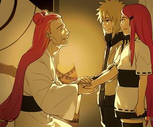 minato, kushina, and naruto image